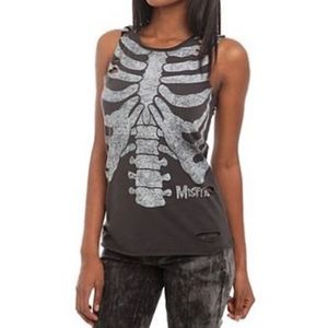 2XL Destructed Misfits Ribcage muscle tank